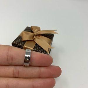 Cartier Love Ring 18K 750 White Gold
